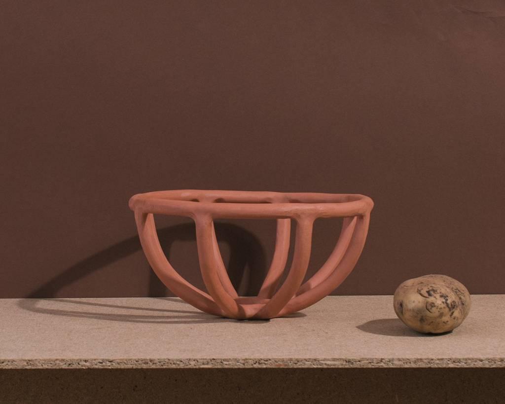 Virginia Sin Prong Fruit Bowl Terracotta Small