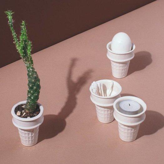Virginia Sin Porcelain Ice Cream Cone White