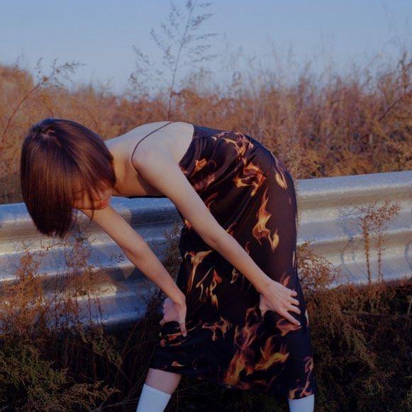 Priscavera Flame Long Slip Dress