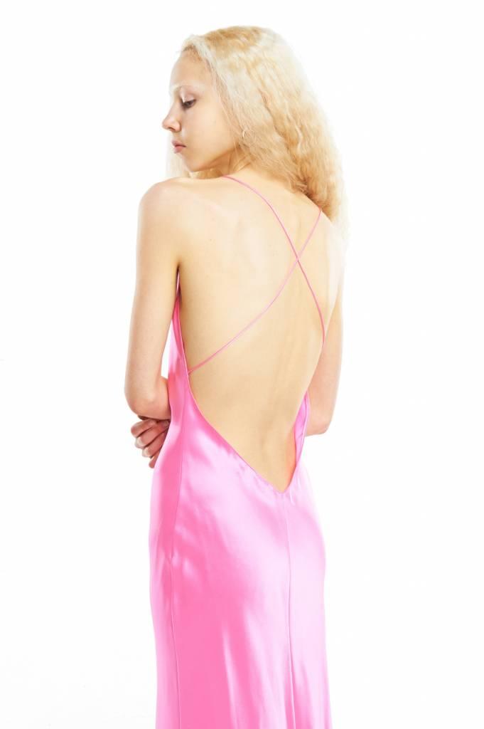 Priscavera Long Slip Dress Bubblegum