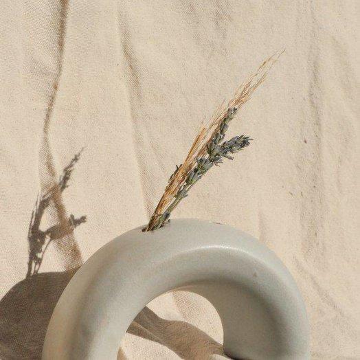 Lucy Michel Ceramics Arch Vase Matte White