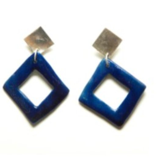 Levens Silver Tile Earrings