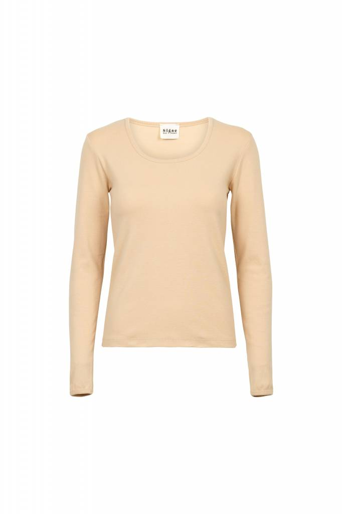 By Signe Rib Blouse, Organic Cotton, Nude