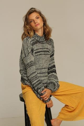 rue stiic Flynn Sweater, Black and White