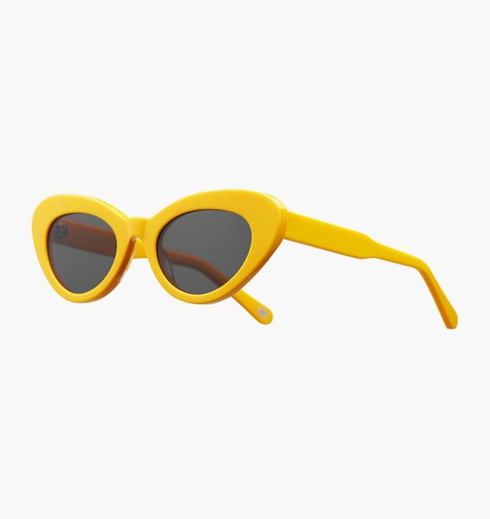 Chimi Round Yellow Chimi x Sundae School Sunglasses