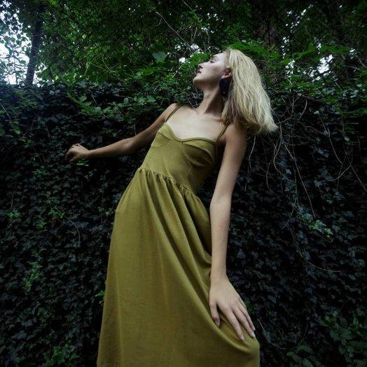By Signe Moon Dress, Organic Cotton, Moss