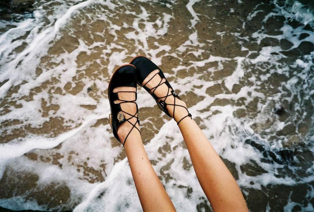 Post Sole Studio Dance Shoe Black Leather