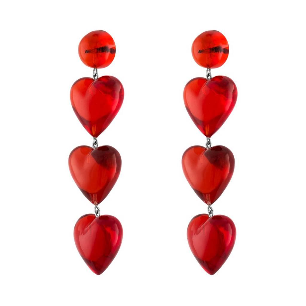 TUZA Never Tear Us Apart Rojo Drop Earrings