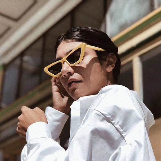 Chimi Square Yellow Chimi x Sundae School Sunglasses