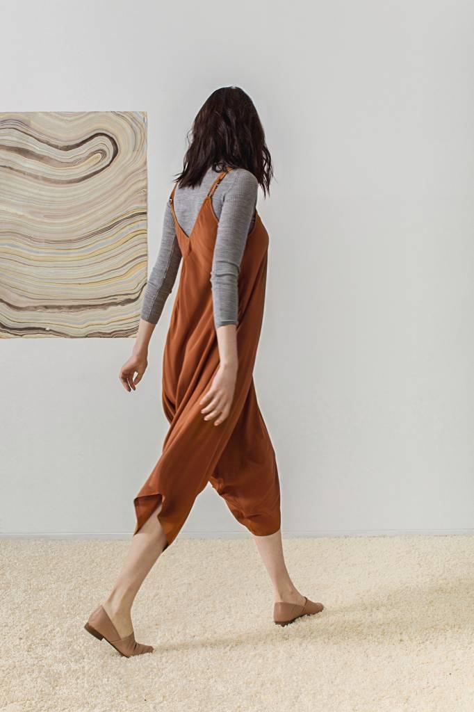 Rujuta Sheth Transeasonal Wide Leg Harem Jumper, Earth