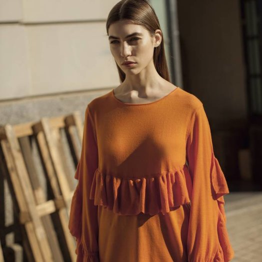 Teoh & Lea Knitted Sweater Tangerine