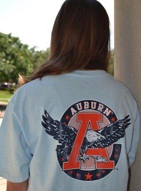 Retro Brand Vintage Eagle Through A Circle T-Shirt W/ AU Pocket