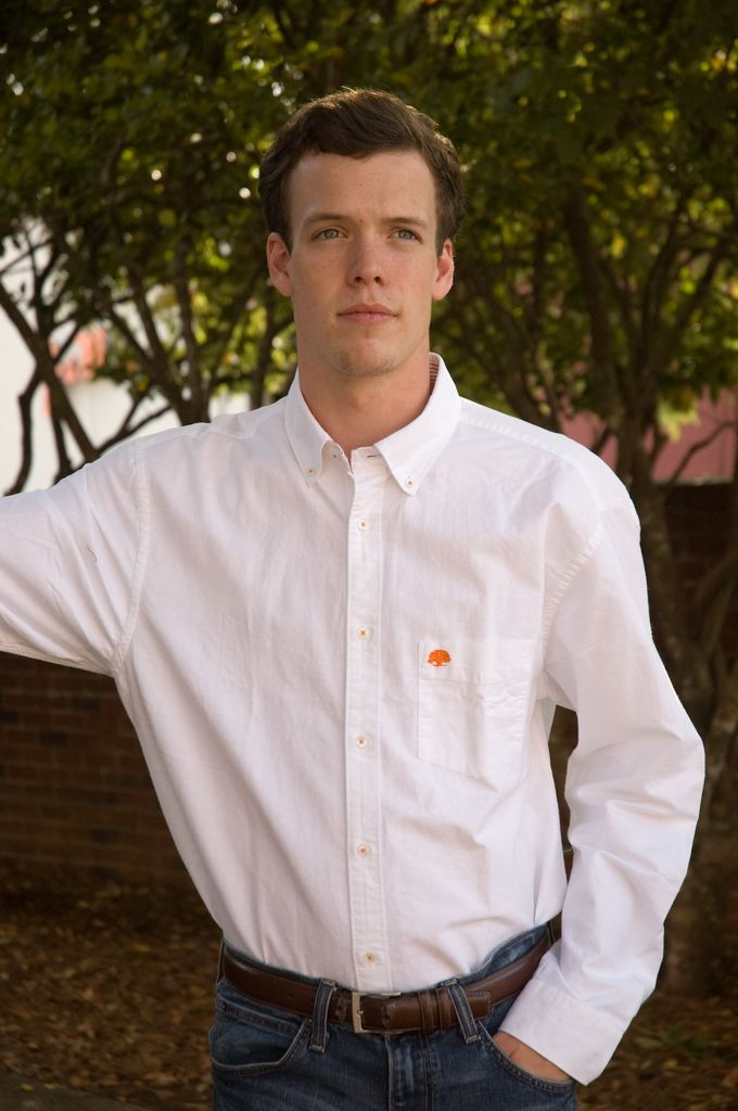 Live Oak White Button Down