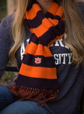 AU Rugby Striped Wide Scarf