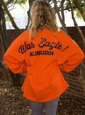 AU War Eagle Sequin Bedazzeled Spirit Jersey