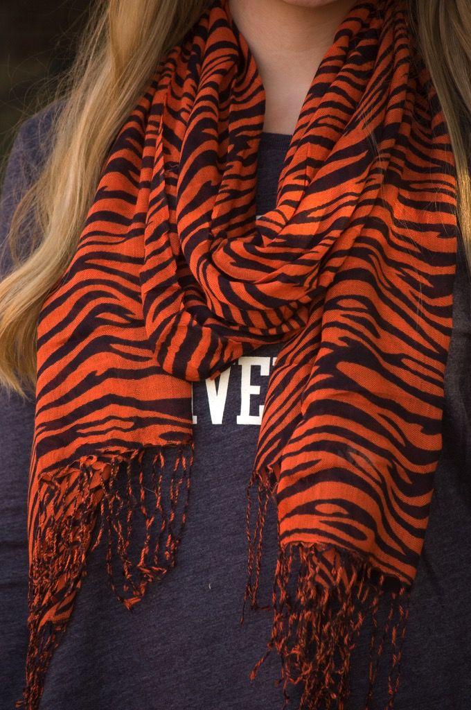 Auburn Tiger Stripe Pattern Scarf