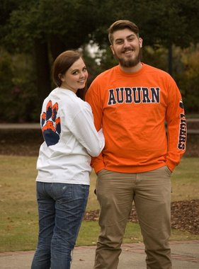 MV Sport Arch Auburn Tiger Paw Long Sleeve T-Shirt