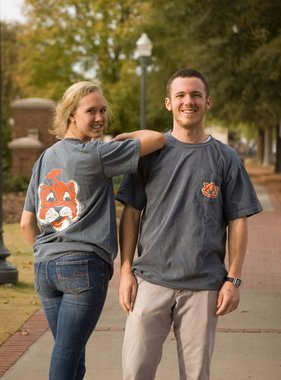 Vintage Aubie Head T-Shirt