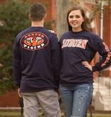 MV Sport Tiger Eyes on Back and Block Auburn on Front Long Sleeve T-Shirt