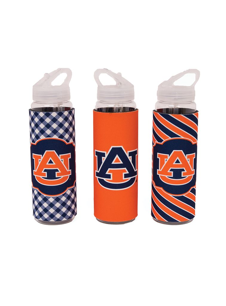 AU 32 oz. Sport Bottle with Orange Koozie