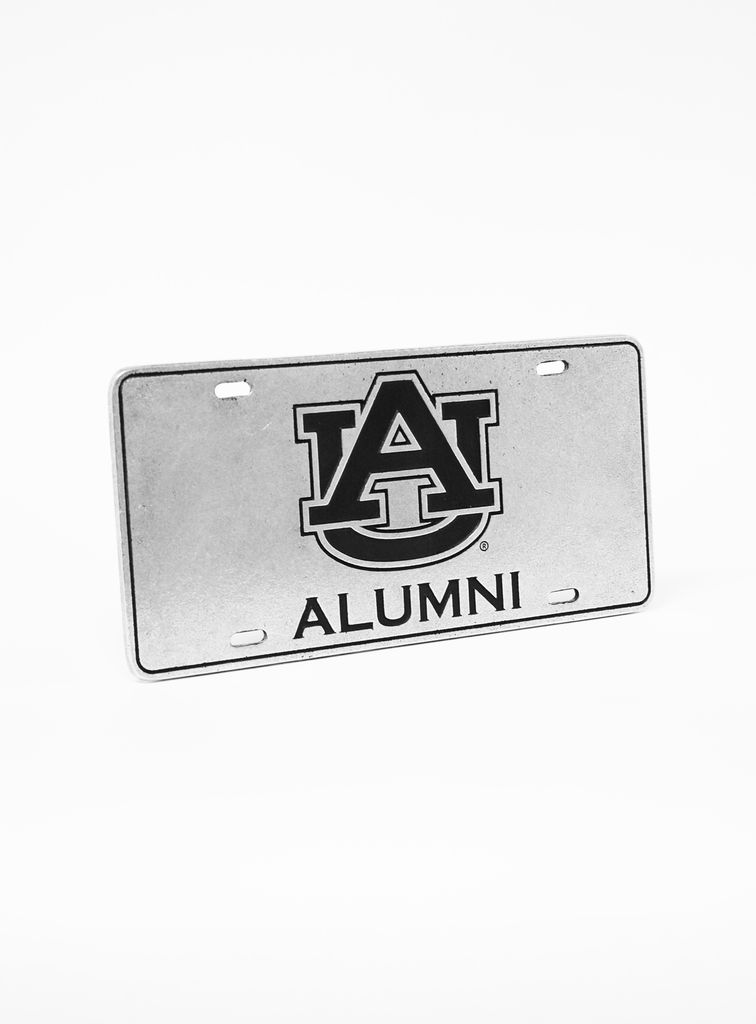 AU Alumni Engraved Pewter Car Tag