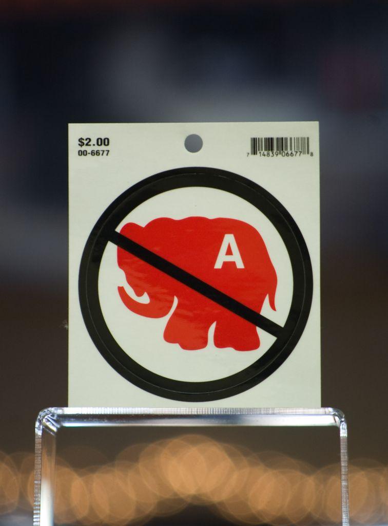 NO Elephants Decal