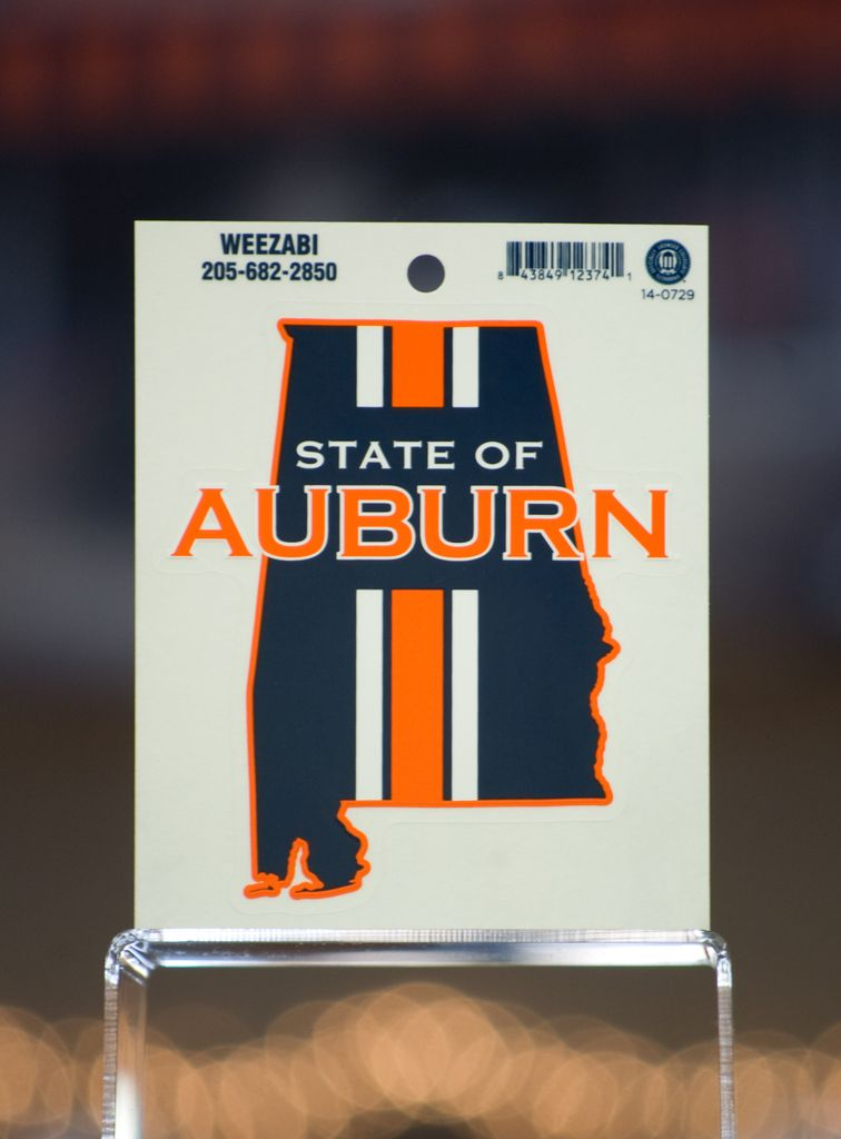 State of Auburn Large Decal