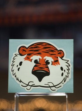 "4"" Aubie Head Decal"