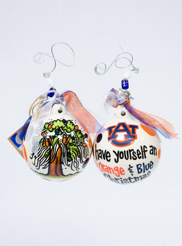 Have Yourself an Orange and Blue Christmas Ornament