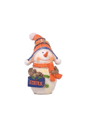 Snowman W/ Auburn Sign Ornament