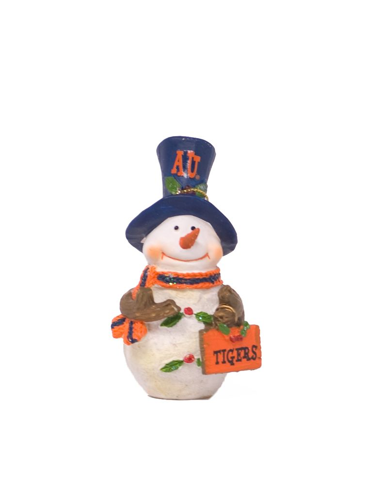 Snowman W/ Tigers Sign Ornament