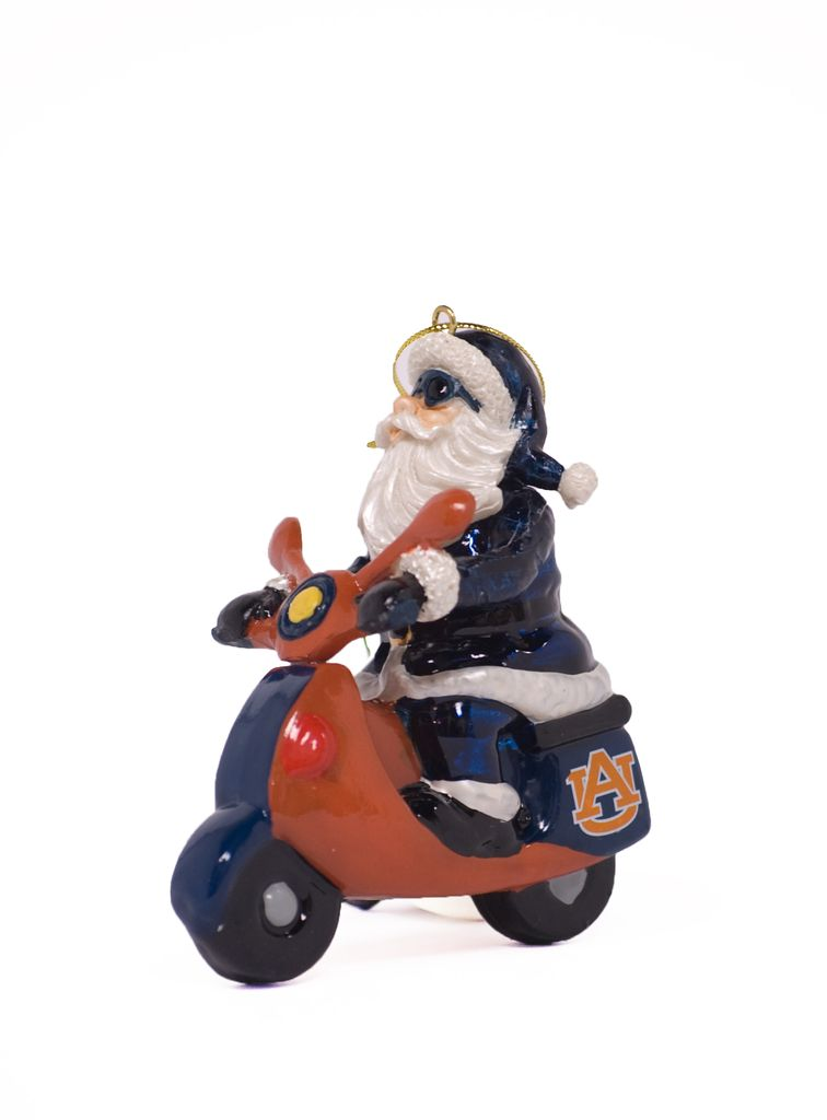 AU Scooter Santa Ornament