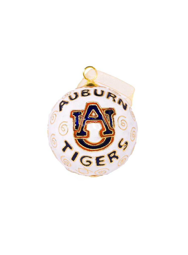 Auburn Tigers AU White Ornament