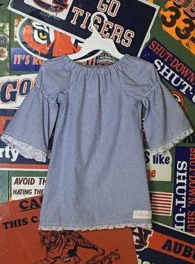 Blue Searsucker Dress