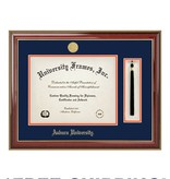 Diploma Frame A - Tassel Classic Mahogany Gold Frame Gold Medallion