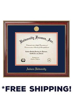 Diploma Frame B - Classic Mahogany Frame Gold Medallion