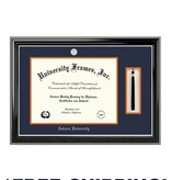 Diploma Frame H- Classic Ebony with Silver Trim and Silver Medallion