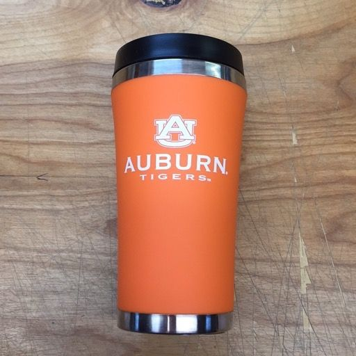 AU Auburn Tigers Stainless Steel Travel Mug, Orange, 16 oz