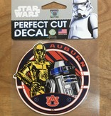 AU Star Wars R2D2 and C3PO 4x4 Decal