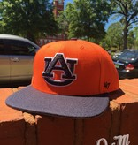 47 Brand AU Auburn Tigers on Side Sure Shot Two Tone Flatbill Snapback Hat