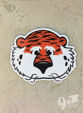 Aubie Head Magnet, 3""