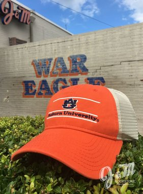 The Game AU THree Bar Orange w/ Stone Mesh Hat