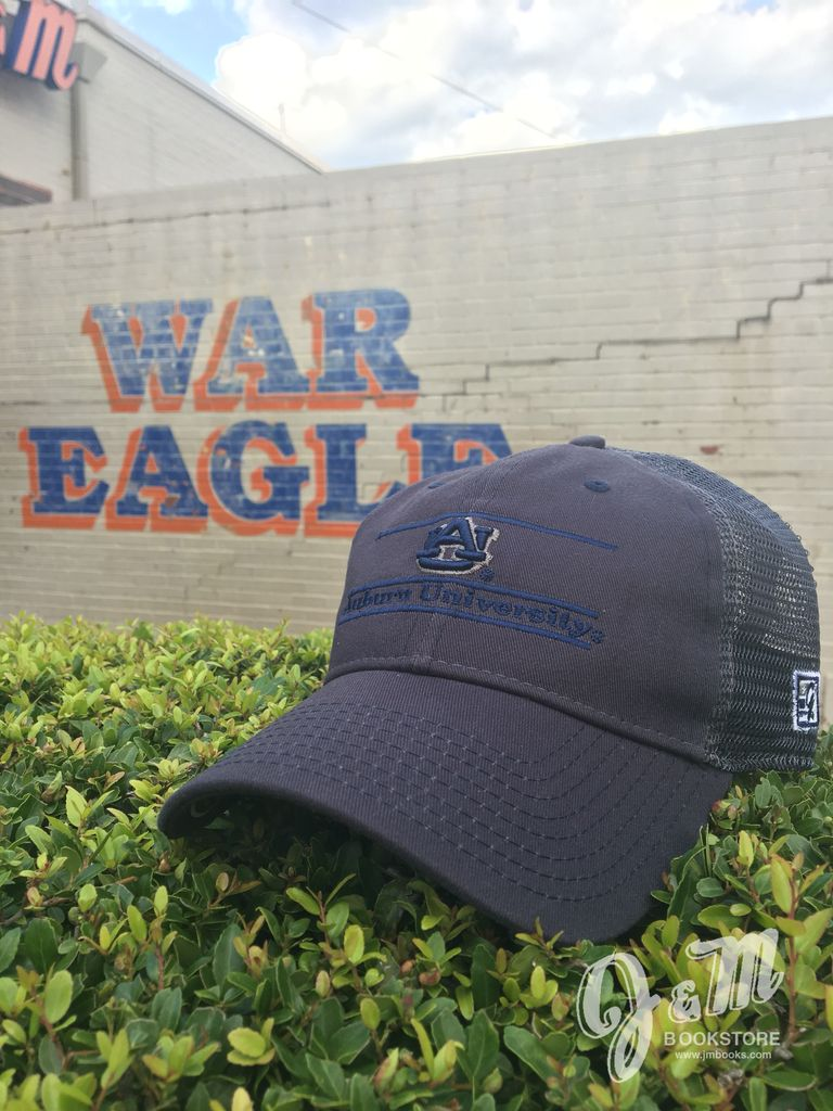 The Game AU Auburn University Navy Bar Navy Mesh Stretch Fit Hat