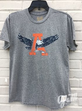 Retro Brand Eagle Thru A Tri-Blend Textured T-Shirt