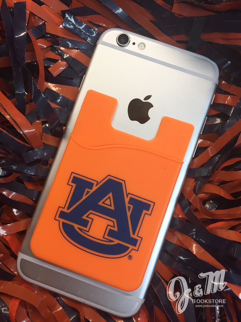 AU Cell Phone I.D. Holder Orange