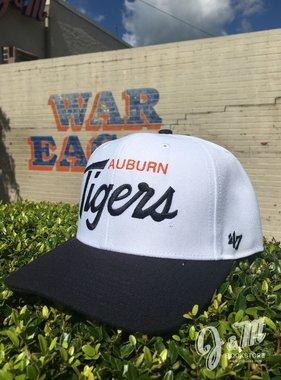 47 Brand Auburn Tigers AU MVP Hat, Navy/White