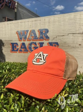 The Game White AU on Orange with Tea Stain Mesh Hat