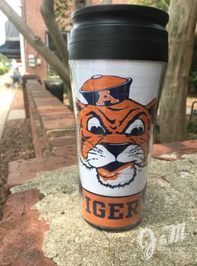 Vintage Aubie Head Coffee Travel Mug