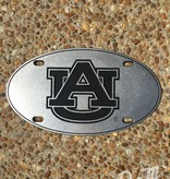 Oval AU Engraved Pewter Car Tag