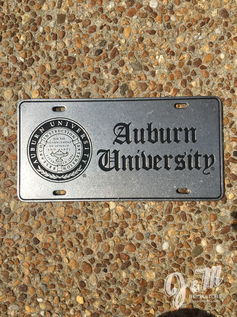 Seal Auburn University Raised Block Pewter Plate